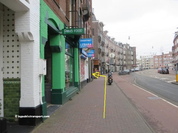 hoe kom ik bij de ten katemarkt amsterdam met het ov openbaar vervoer by public transport 22