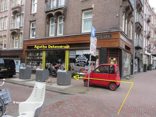 hoe kom ik bij de ten katemarkt amsterdam met het ov openbaar vervoer by public transport 23
