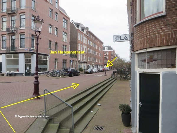 hoe kom ik bij de ten katemarkt amsterdam met het ov openbaar vervoer by public transport 24
