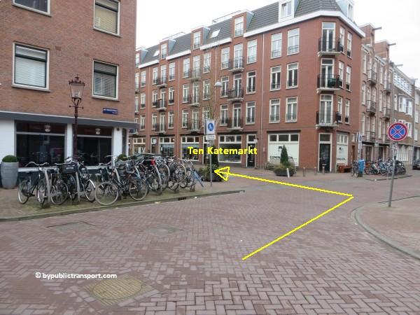 hoe kom ik bij de ten katemarkt amsterdam met het ov openbaar vervoer by public transport 25