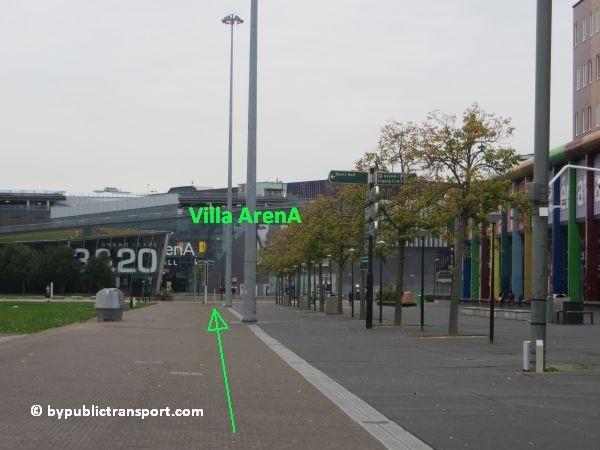 hoe kom ik bij de woonmall villa arena met het ov openbaar vervoer 09