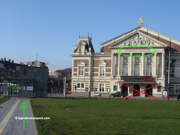 hoe kom ik bij het concertgebouw amsterdam met het ov openbaar vervoer by public transport 24