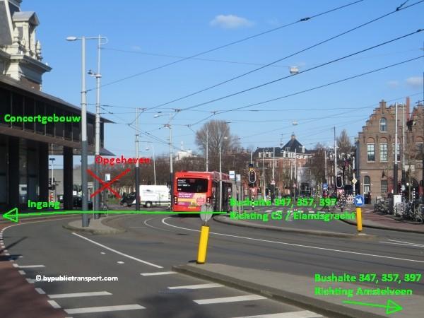 hoe kom ik bij het concertgebouw amsterdam met het ov openbaar vervoer by public transport 38
