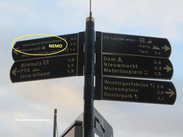 hoe kom ik bij het nemo science museum in amsterdam met het ov openbaar vervoer by public transport 08