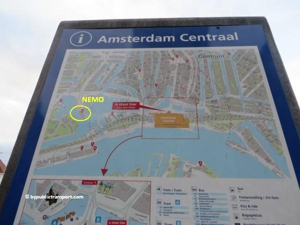 hoe kom ik bij het nemo science museum in amsterdam met het ov openbaar vervoer by public transport 10