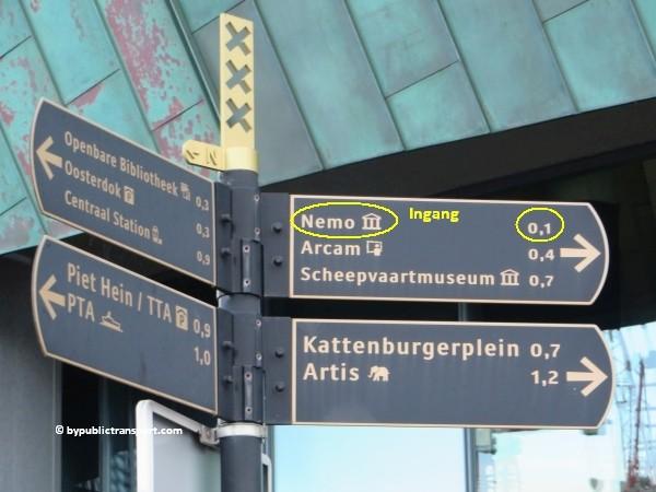 hoe kom ik bij het nemo science museum in amsterdam met het ov openbaar vervoer by public transport 27