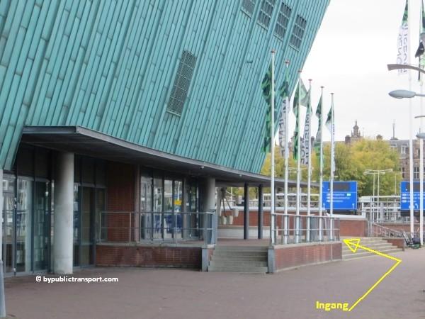 hoe kom ik bij het nemo science museum in amsterdam met het ov openbaar vervoer by public transport 28