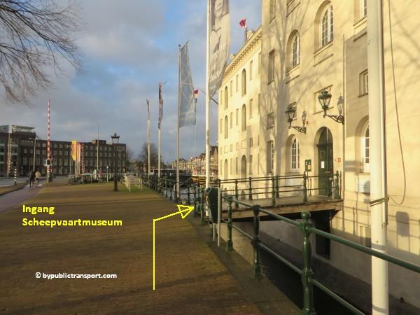 hoe kom ik bij het scheepvaartmuseum in amsterdam met het ov openbaar vervoer by public transport 08