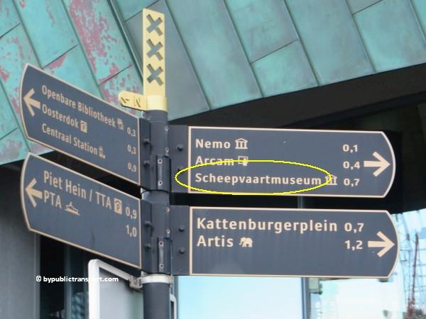 hoe kom ik bij het scheepvaartmuseum in amsterdam met het ov openbaar vervoer by public transport 34