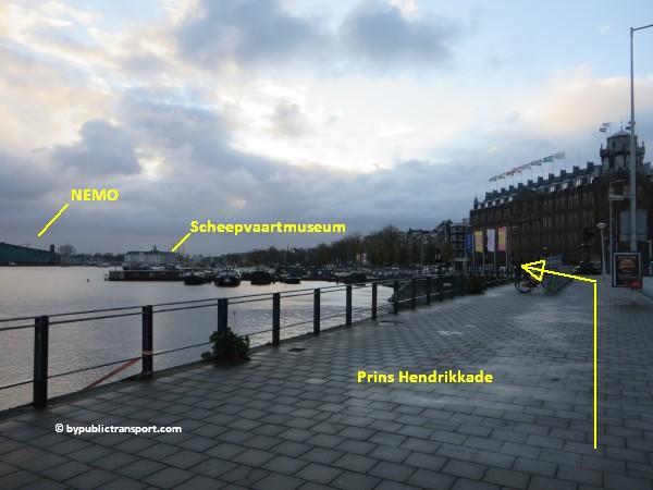 hoe kom ik bij het scheepvaartmuseum in amsterdam met het ov openbaar vervoer by public transport 41