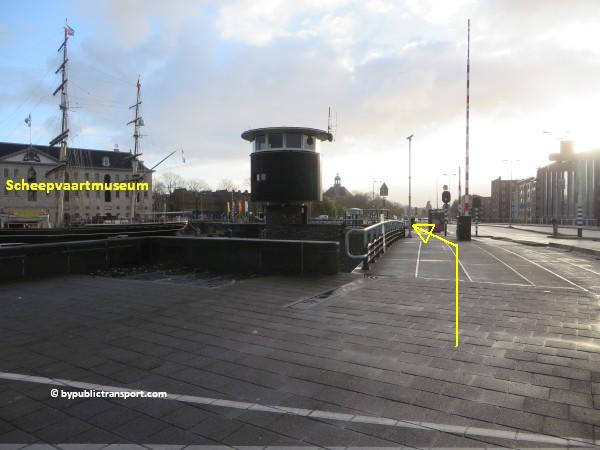 hoe kom ik bij het scheepvaartmuseum in amsterdam met het ov openbaar vervoer by public transport 47