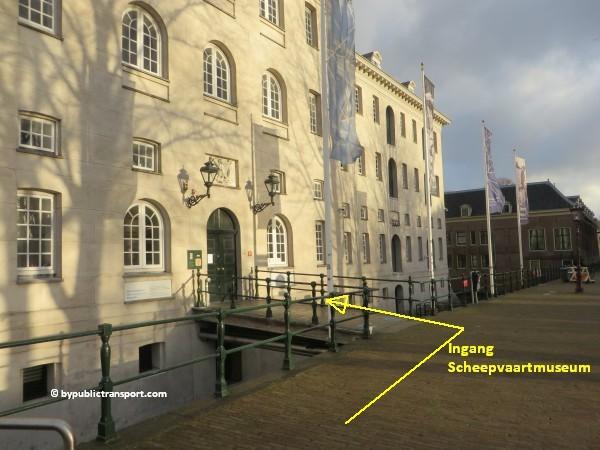hoe kom ik bij het scheepvaartmuseum in amsterdam met het ov openbaar vervoer by public transport 48