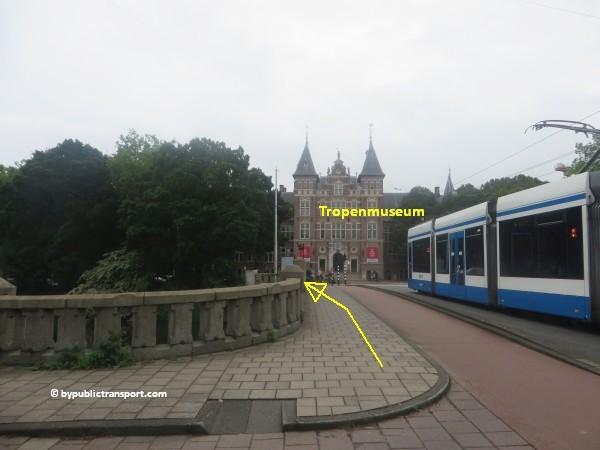 hoe kom ik bij het tropenmuseum amsterdam met het ov openbaar vervoer by public transport 08