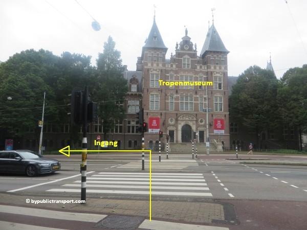 hoe kom ik bij het tropenmuseum amsterdam met het ov openbaar vervoer by public transport 09