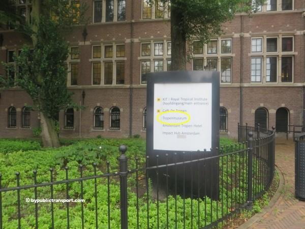 hoe kom ik bij het tropenmuseum amsterdam met het ov openbaar vervoer by public transport 11