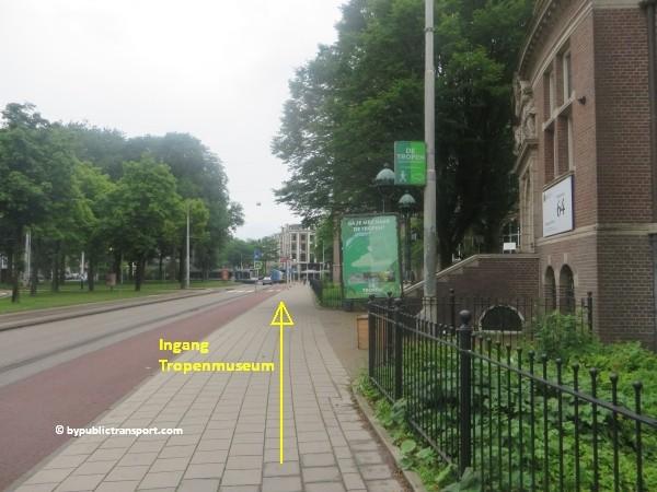 hoe kom ik bij het tropenmuseum amsterdam met het ov openbaar vervoer by public transport 12