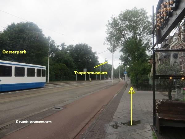 hoe kom ik bij het tropenmuseum amsterdam met het ov openbaar vervoer by public transport 38