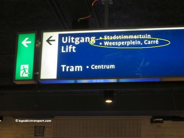 hoe kom ik bij theater carre amsterdam met het ov openbaar vervoer by public transport 07