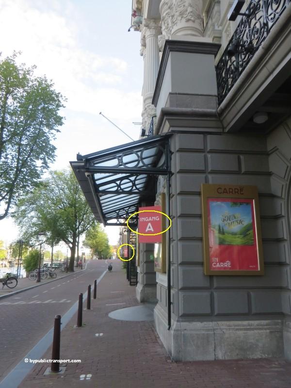 hoe kom ik bij theater carre amsterdam met het ov openbaar vervoer by public transport 22
