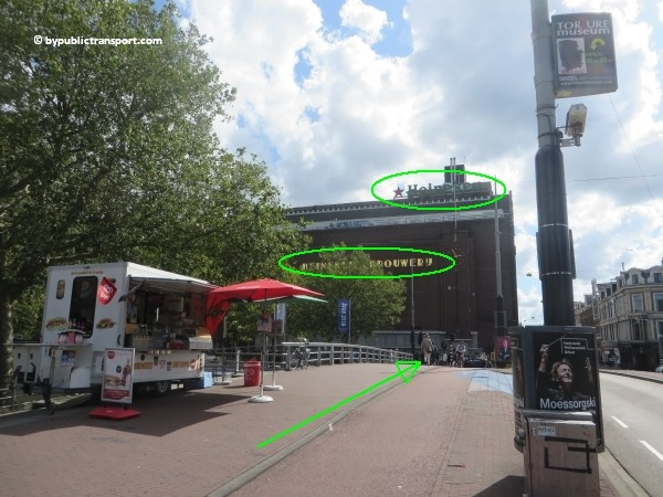 how do i get to the heineken experience amsterdam by public transport 10