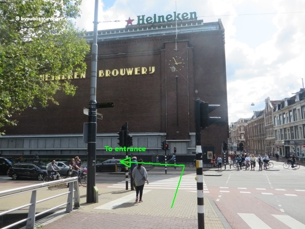 how do i get to the heineken experience amsterdam by public transport 11