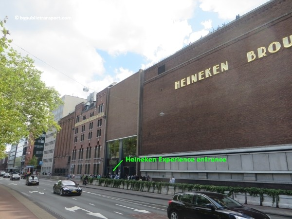 how do i get to the heineken experience amsterdam by public transport 12
