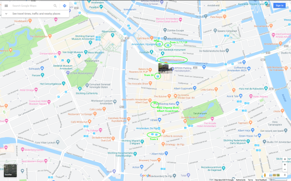 how do i get to the heineken experience amsterdam by public transport map 600x375