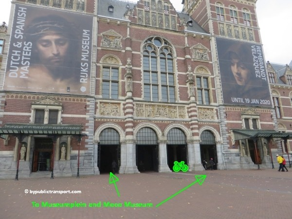 how do i get to the moco museum amsterdam by public transport 16