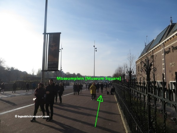 how do i get to the moco museum amsterdam by public transport 18