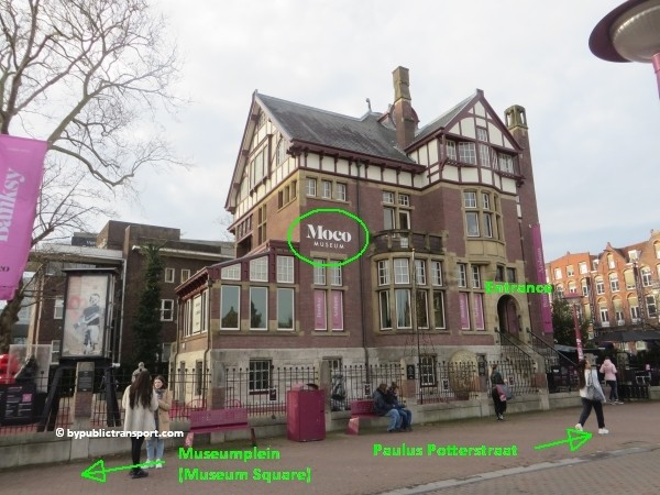 how do i get to the moco museum amsterdam by public transport 24