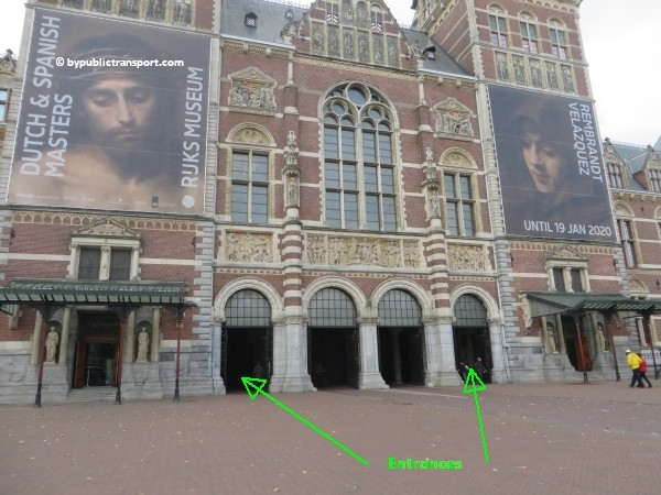 how do i get to the rijksmuseum amsterdam by public transport 13