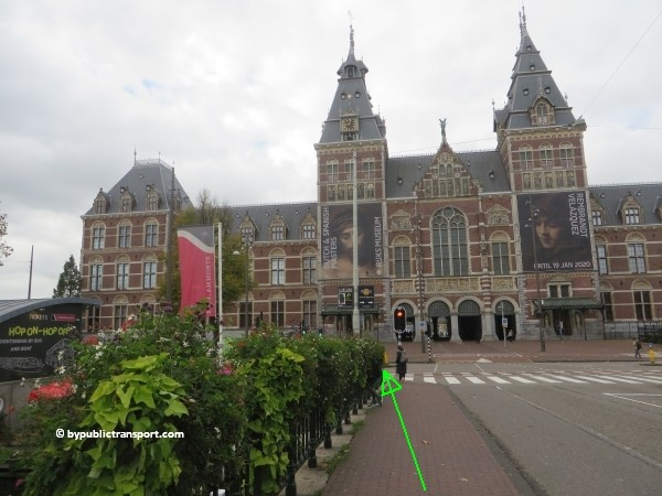 how do i get to the stedelijk museum amsterdam by public transport 15