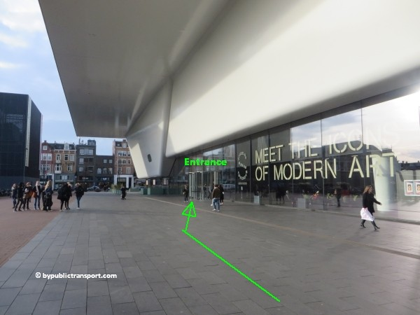 how do i get to the stedelijk museum amsterdam by public transport 24