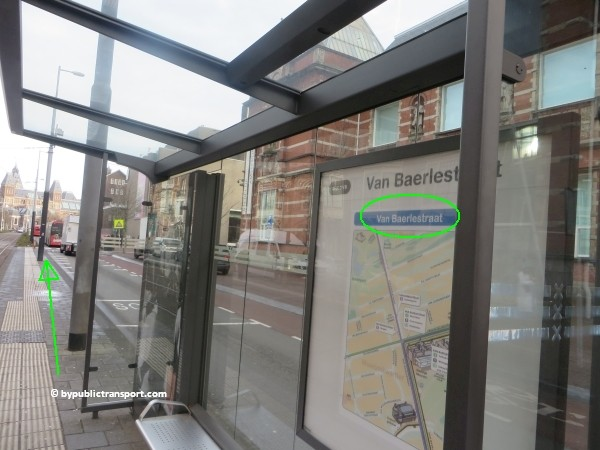 how do i get to the stedelijk museum amsterdam by public transport 25