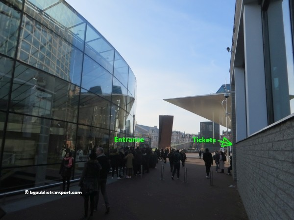 how do i get to the van gogh museum amsterdam by public transport 25