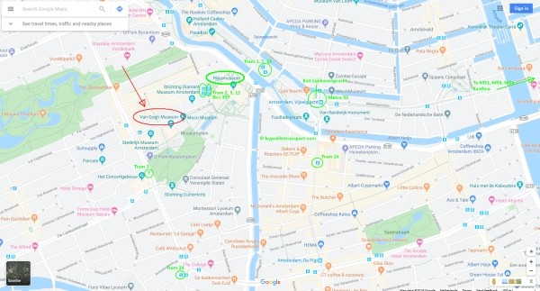 how do i get to the van gogh museum amsterdam by public transport 600 x 323