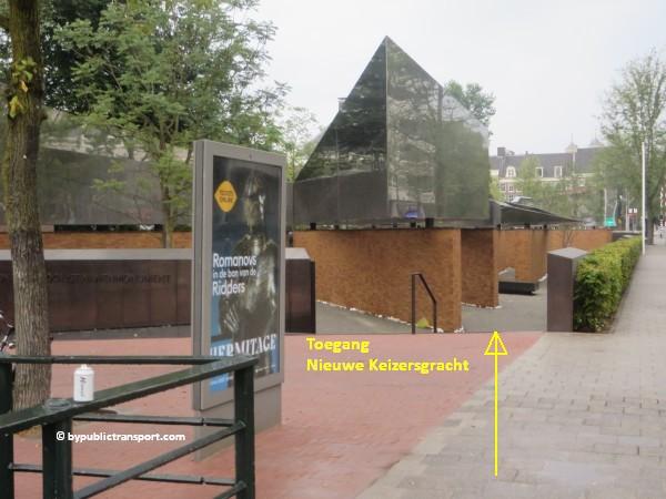 nationaal holocaust namenmonument amsterdam met het ov openbaar vervoer by public transport 03