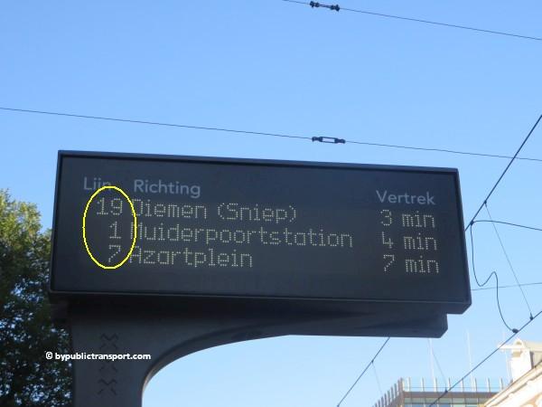 nationaal holocaust namenmonument amsterdam met het ov openbaar vervoer by public transport 13
