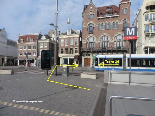 nationaal holocaust namenmonument amsterdam met het ov openbaar vervoer by public transport 19