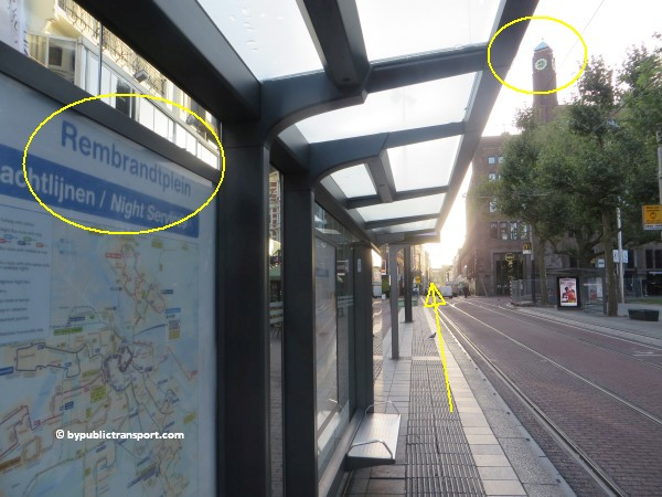 nationaal holocaust namenmonument amsterdam met het ov openbaar vervoer by public transport 21