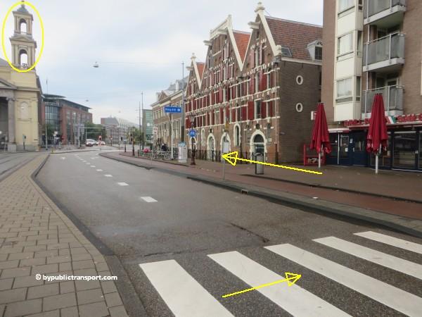 nationaal holocaust namenmonument amsterdam met het ov openbaar vervoer by public transport 25