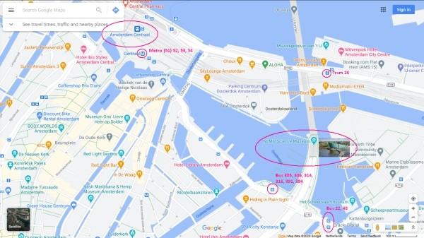 nemo science museum amsterdam tram metro stops nearby 600 x 337