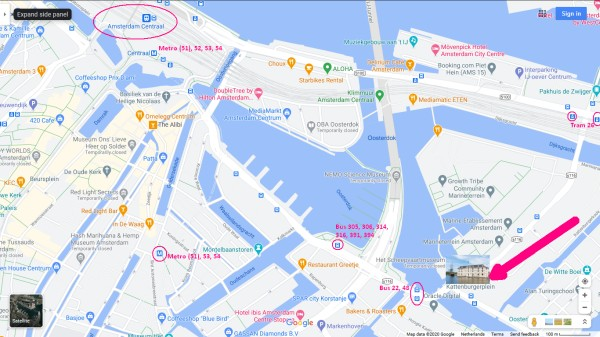 scheepvaartmuseum amsterdam tram metro stops nearby 600 x 337